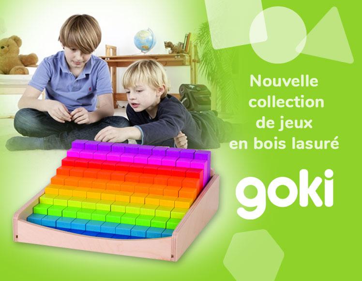 Reglettes en bois lasuré type Montessori