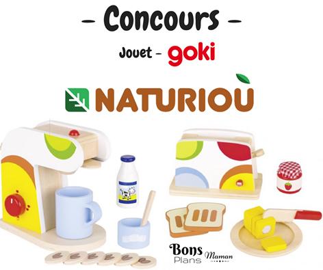 Concours jeux en bois Goki Grille pain et machine à café