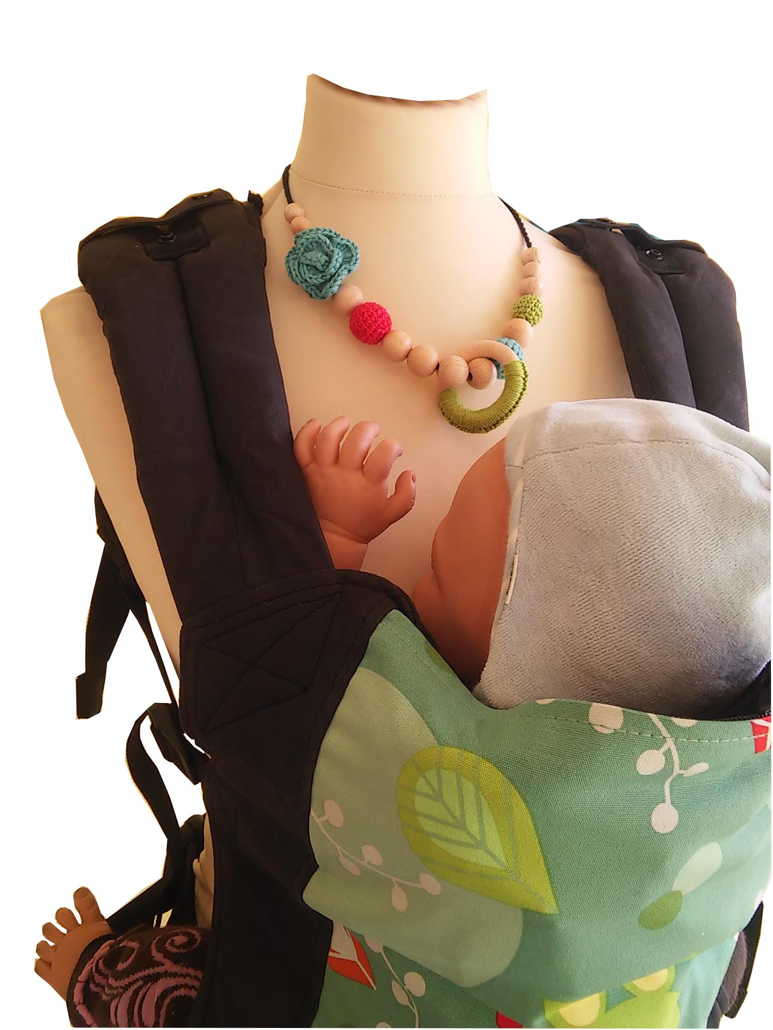 collier de portage et d'allaitement bio naturiou