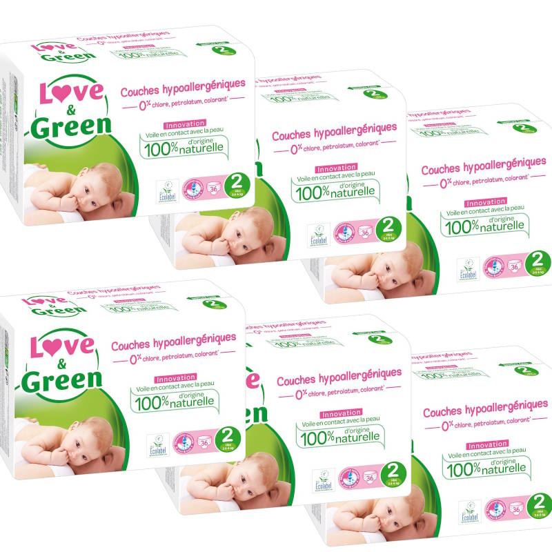 Love and Green pack couches taille 2