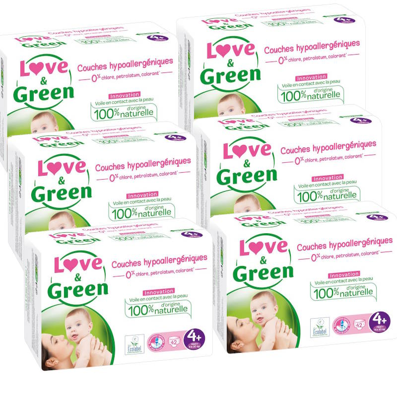 Love and Green pack couches taille 4+