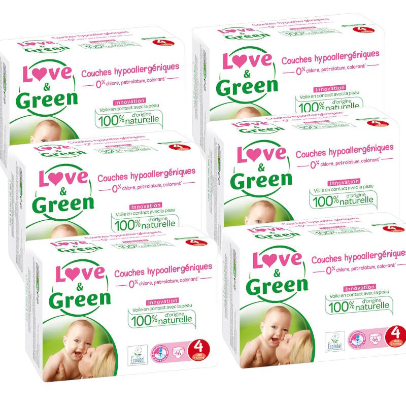Love and Green pack couches taille 4